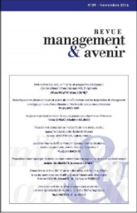 Parution d'un article – Revue Management & avenir